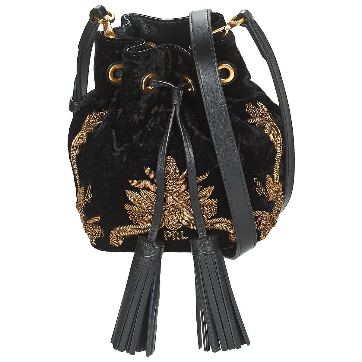 a2934154fd00 Polo Ralph Lauren Velvet W Bullion Sm Drawstrng Women s Shoulder Bag ...