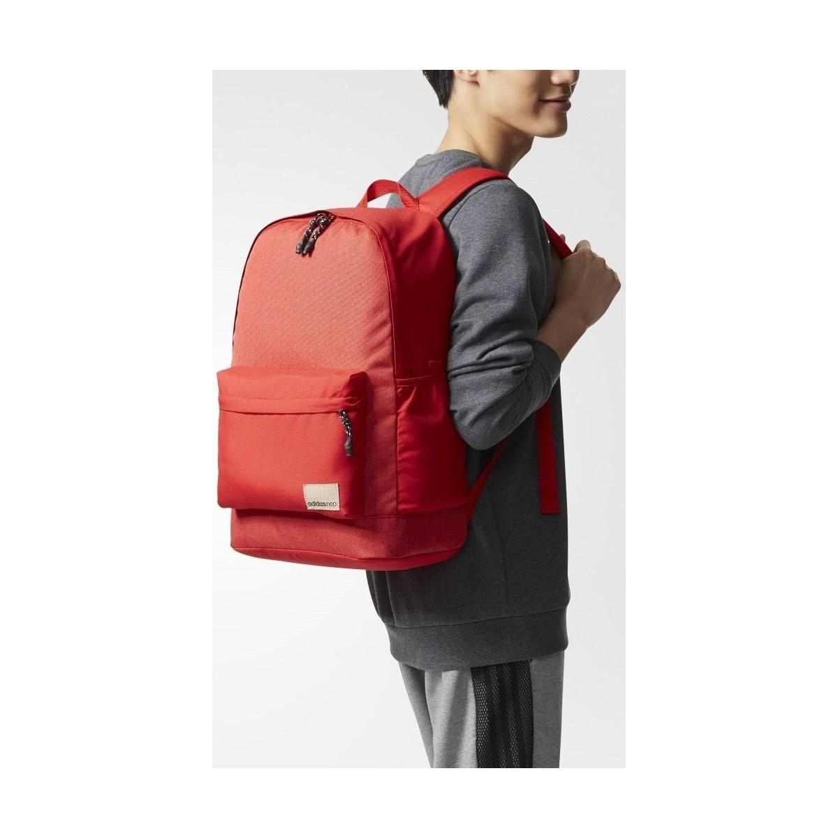 adidas Bp Daily Xl Women s Backpack In Red in Red for Men - Lyst 805efb79906b7