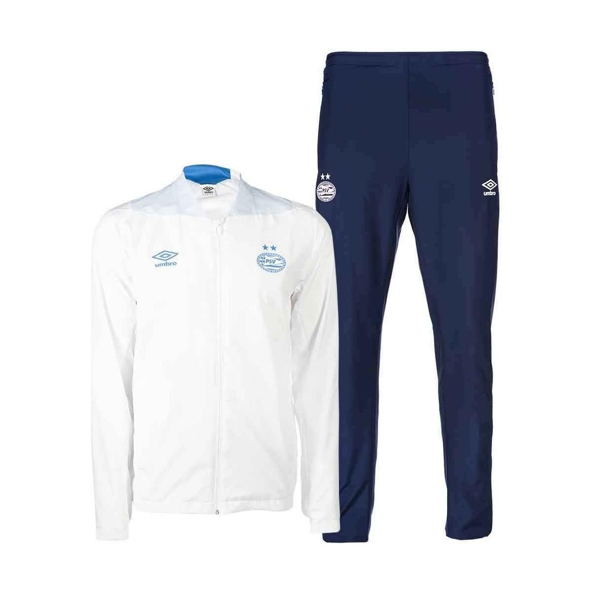 ee8cf5df623 Umbro 2018-2019 Psv Eindhoven Woven Tracksuit Men's In White in ...