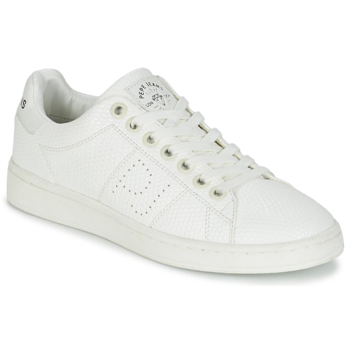 Pepe Jeans New Club Monocrome Shoes (trainers) in White - Lyst 661efebb52