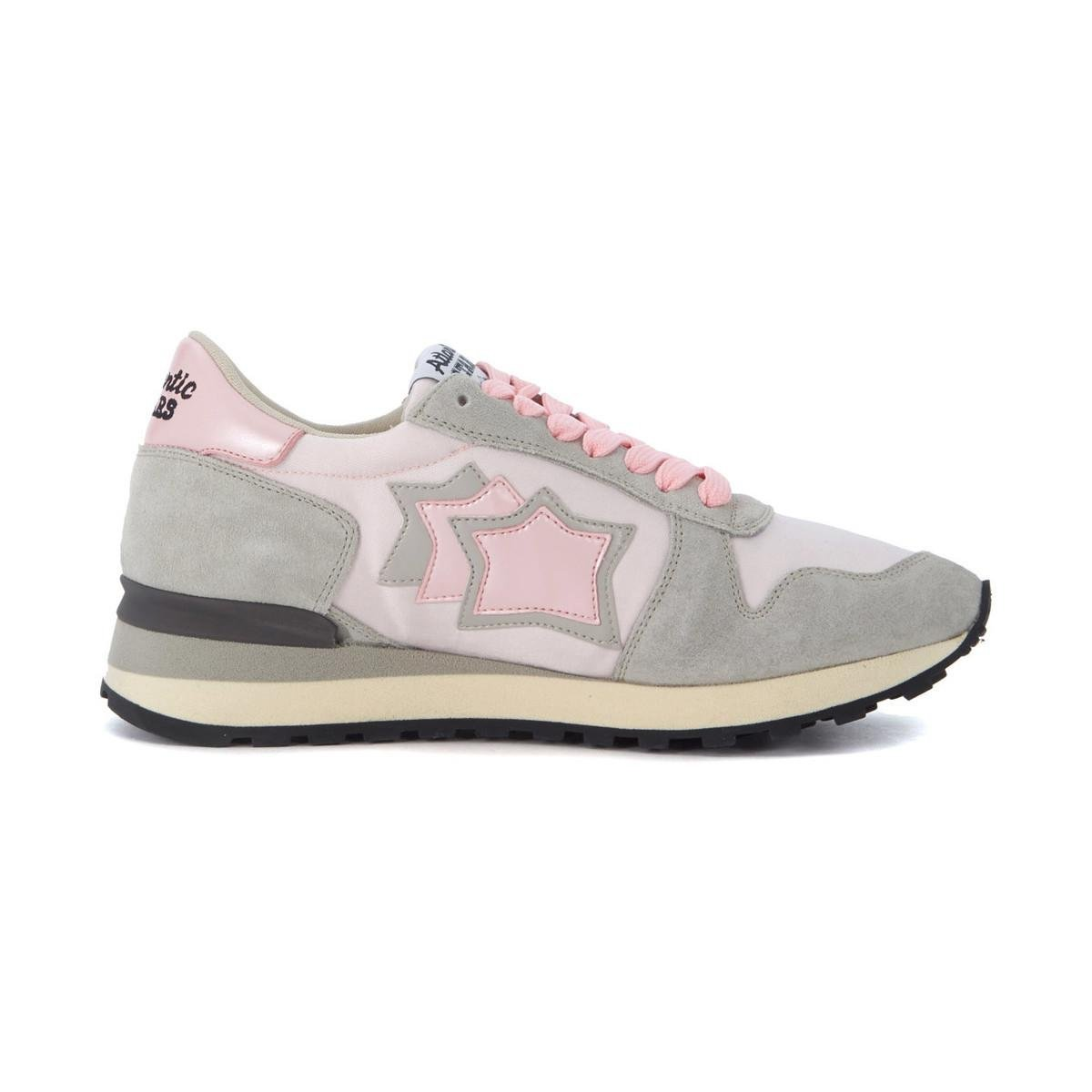 Sale Best Seller Atlantic Stars Alhena grey leather and pink nylon sneakers women's Shoes (Trainers) in In China For Sale nzSNNYassc