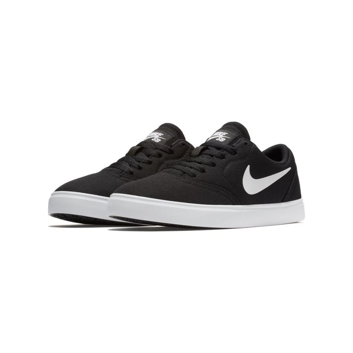check out 01eaa b4711 Nike Sb Check Solar 905373 Men's Shoes (trainers) In Black in Black ...
