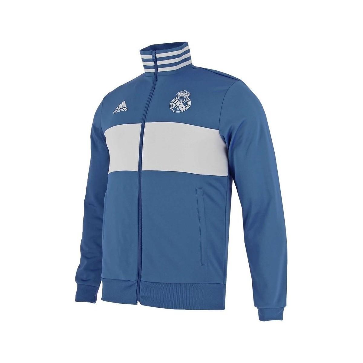 8797458895f Adidas Real Madrid 3stripes Track Jacket Men's Sweatshirt In Blue in ...