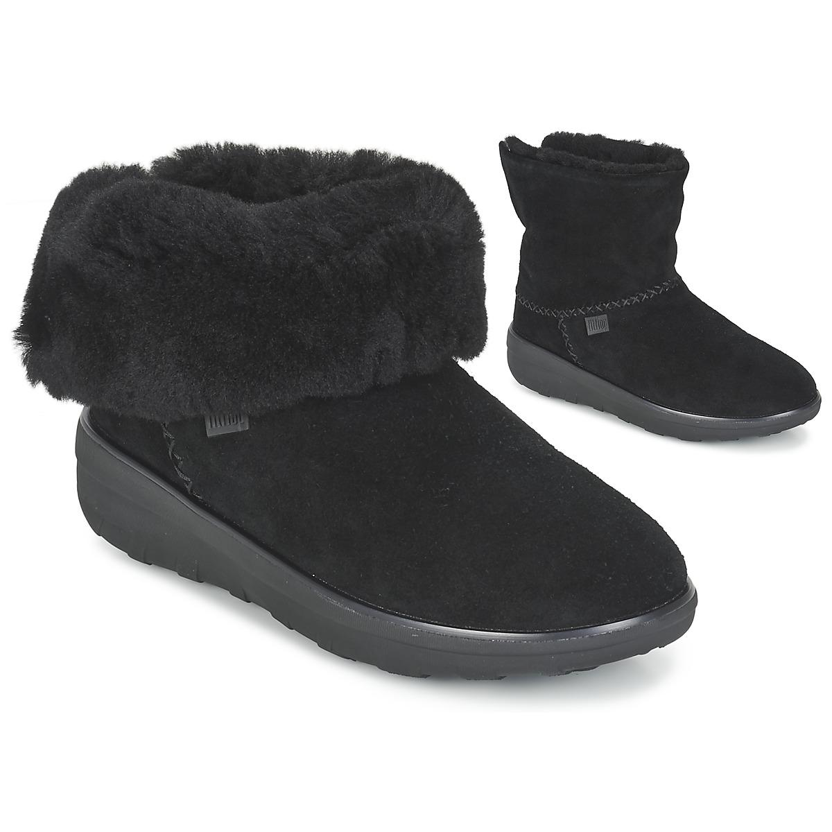 4249bb7cebb54f Fitflop Mukluk Shorty 2 Boots Women s Mid Boots In Black in Black - Lyst