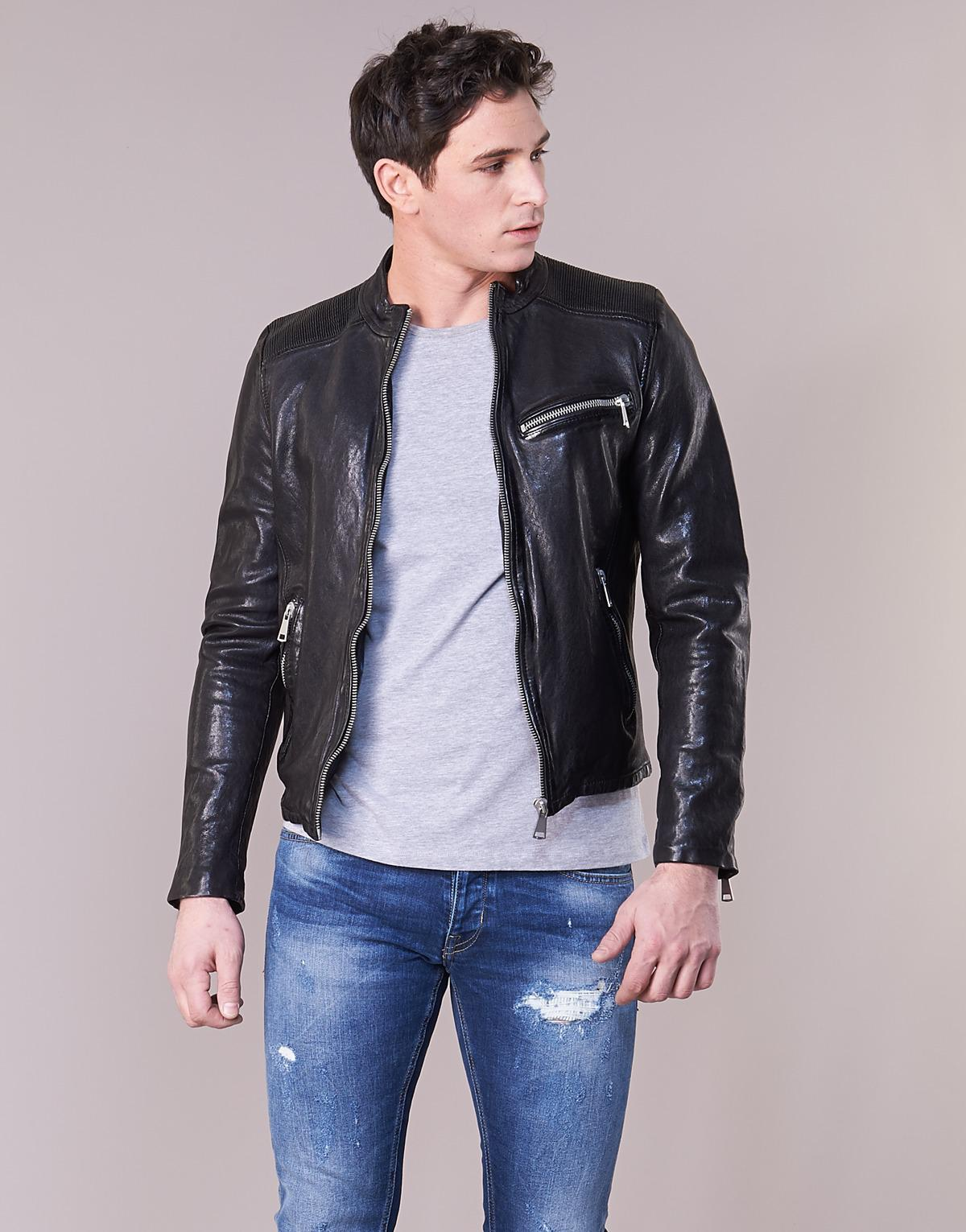 1a7488145 Redskins cross leather jacket in black for men lyst jpg 1200x1531 Redskins  mens leather jackets