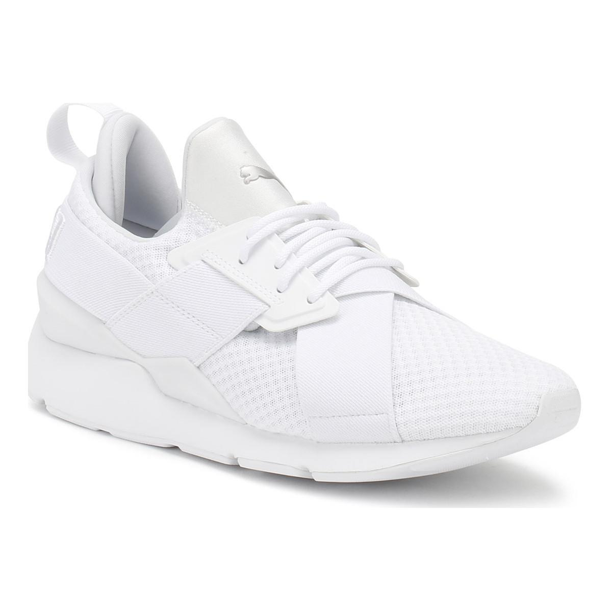 0eb4f4eae48 Puma Womens White Muse X-strap Ep Trainers Women s Shoes (trainers ...