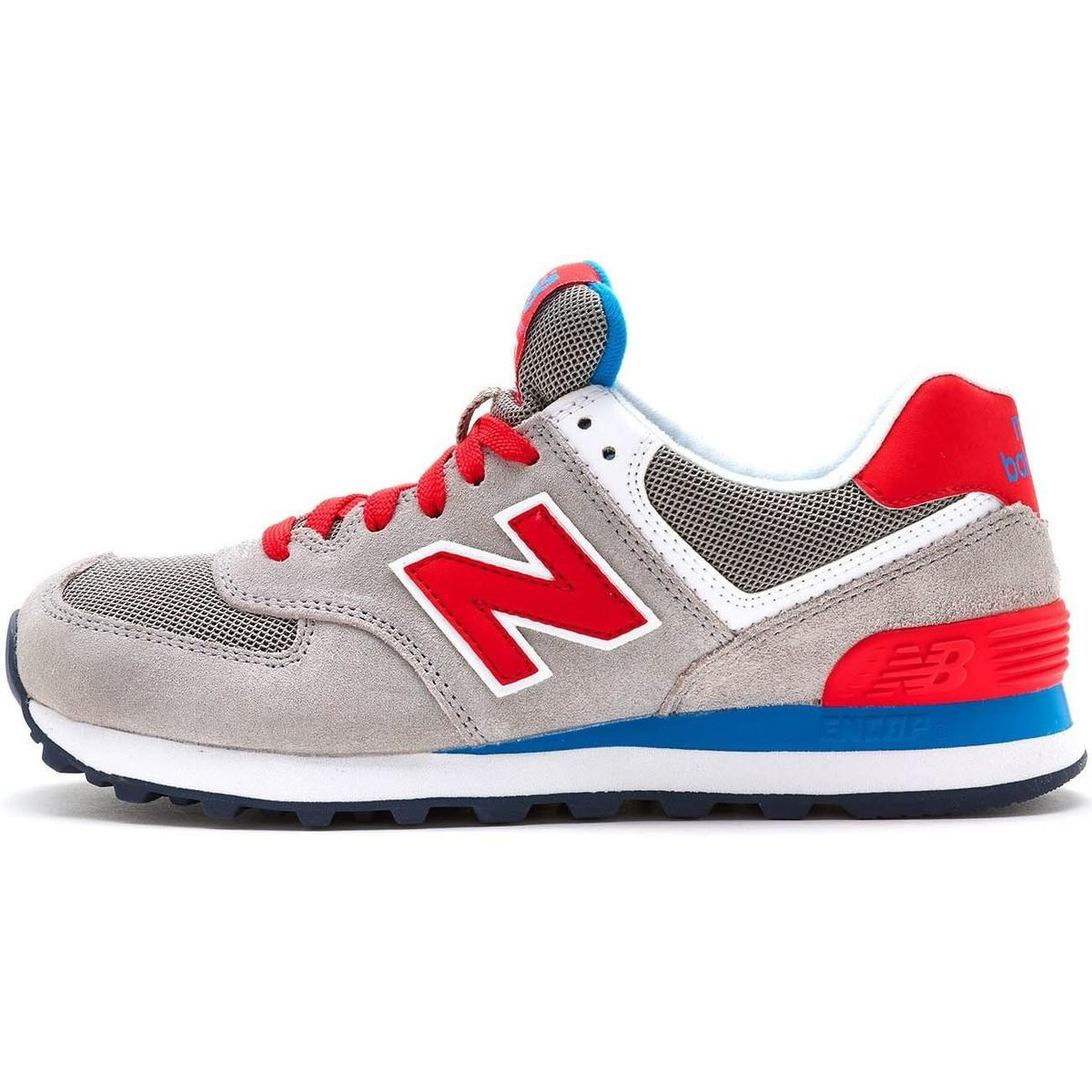 Suede Trainers In Blue 574 GreyRed New Balance Wl574 Women Retro n0wkPO