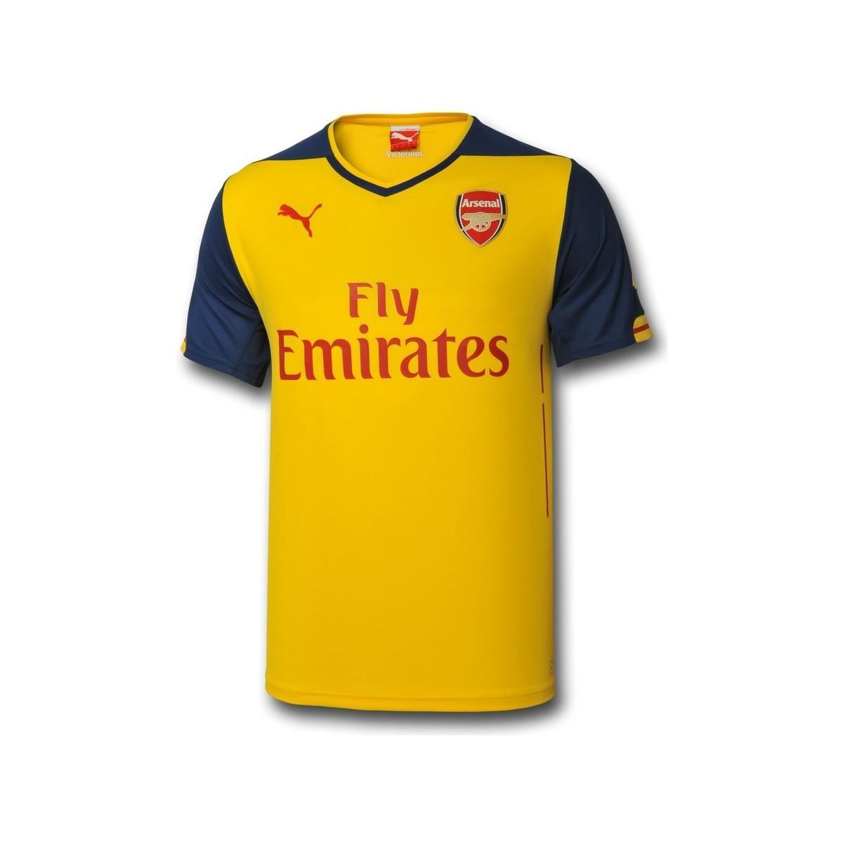 Puma 2014-15 Arsenal Away Shirt (alexis 17) Men s T Shirt In Yellow ... f73d1b39c