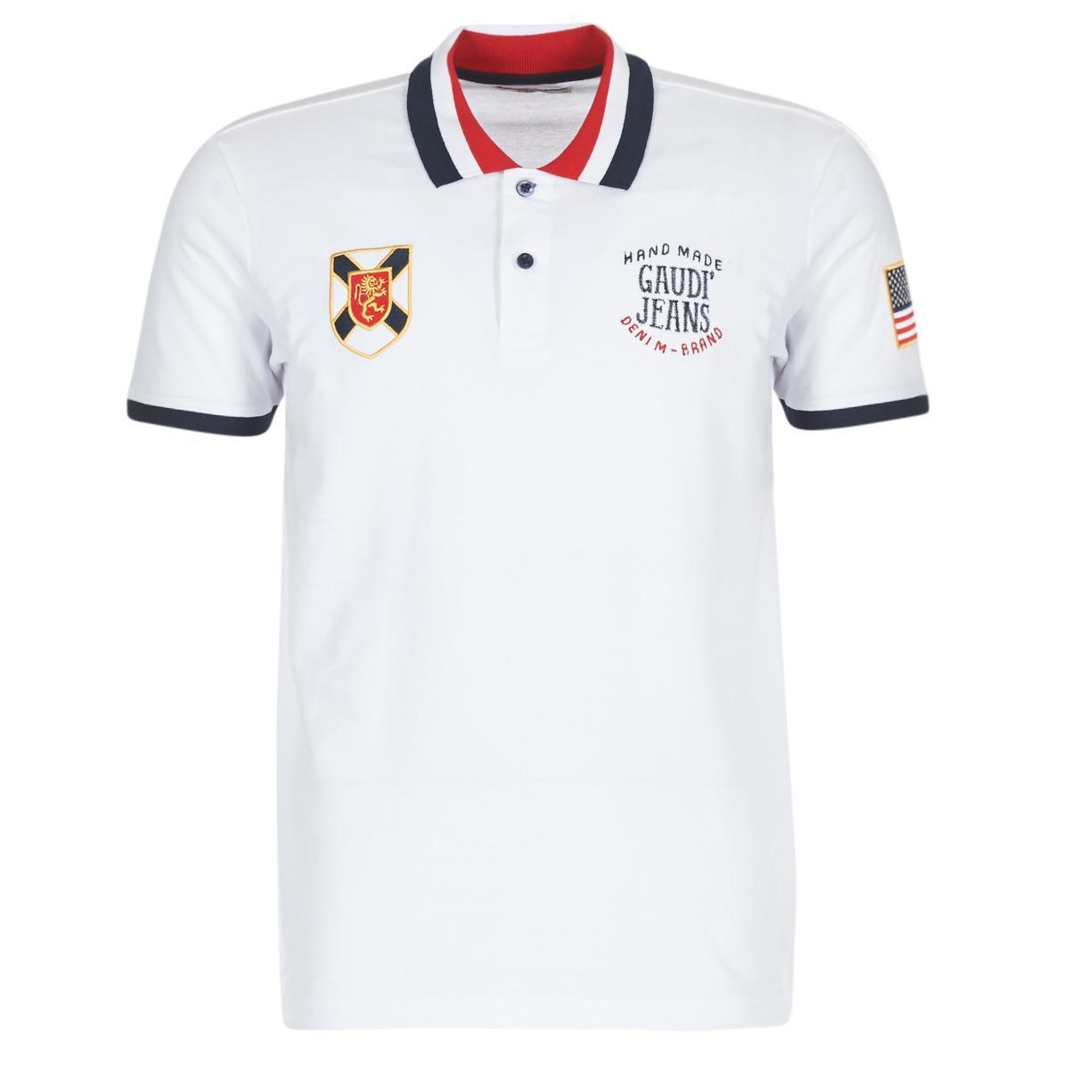 Gaudi Ademop Mens Polo Shirt In White In White For Men Lyst