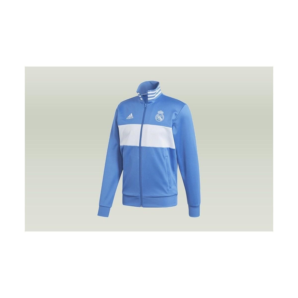1665dd8b75d Adidas - Real Madrid 3stripes Track Jacket Men's Sweatshirt In Blue for Men  - Lyst. View fullscreen