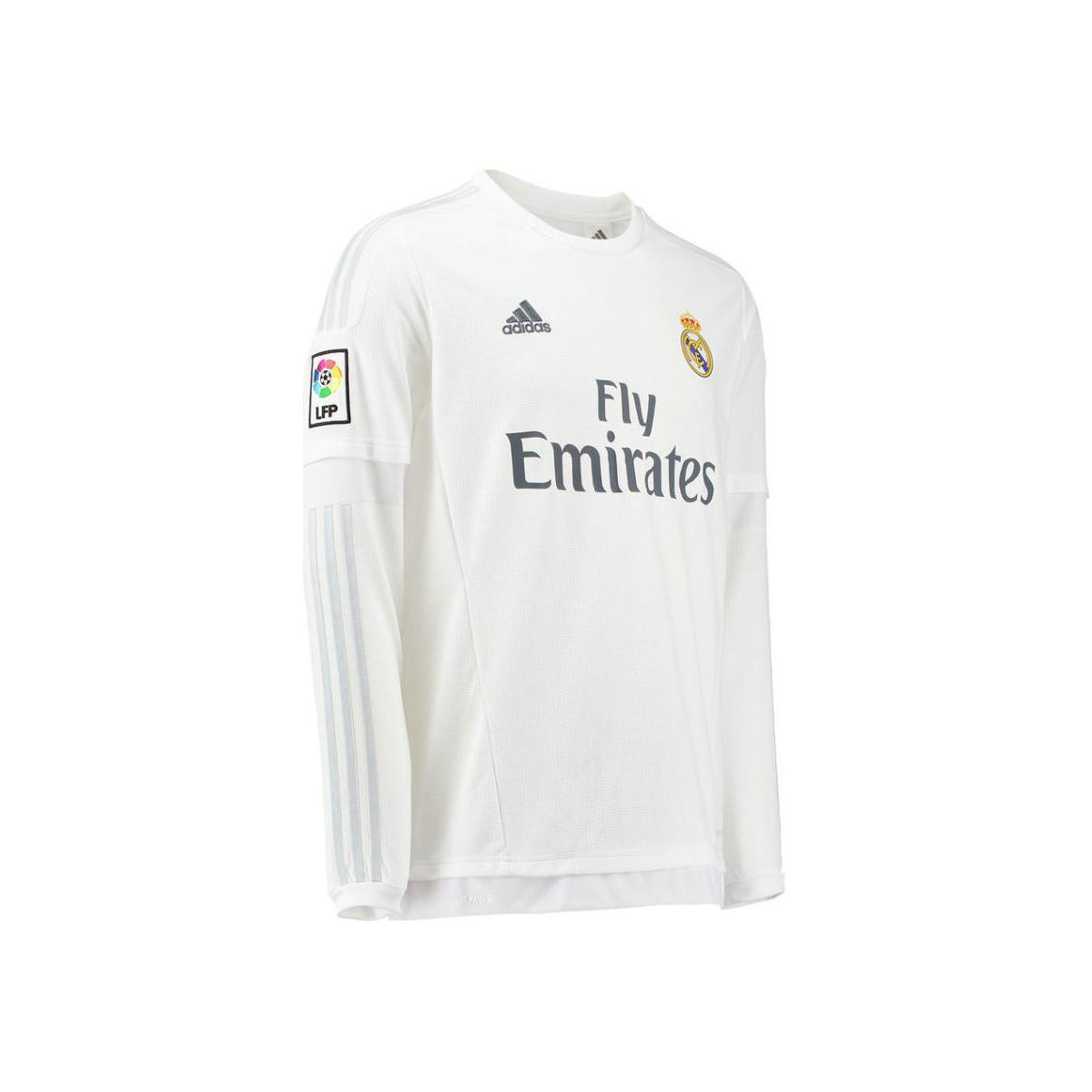size 40 0e010 39c6c Adidas 2015-16 Real Madrid Long Sleeve Home Shirt (modric 19 ...
