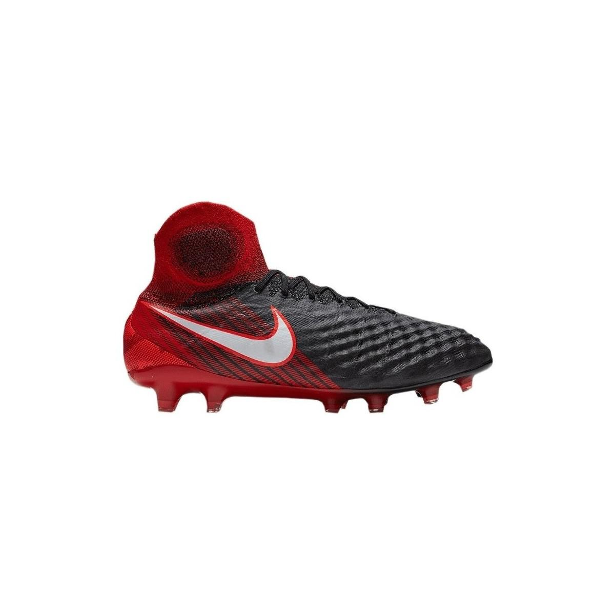 low priced 78e63 7e05d Nike Magista Obra Ii Fg Fire Mens Mid Boots In Black in Blac
