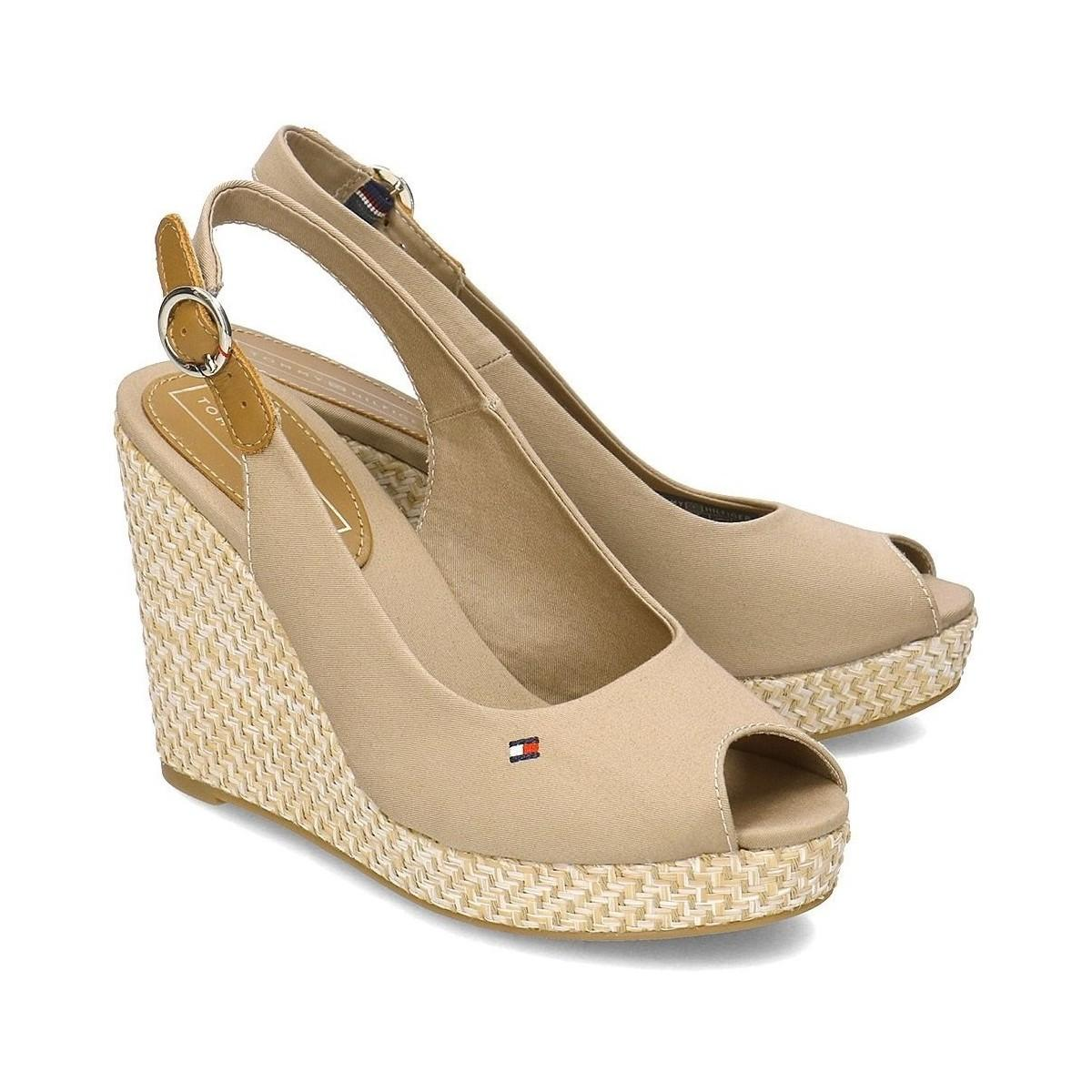 972eae9dd Tommy Hilfiger - Natural Iconic Elena Basic Sling Back Women s Clogs  (shoes) In Beige. View fullscreen