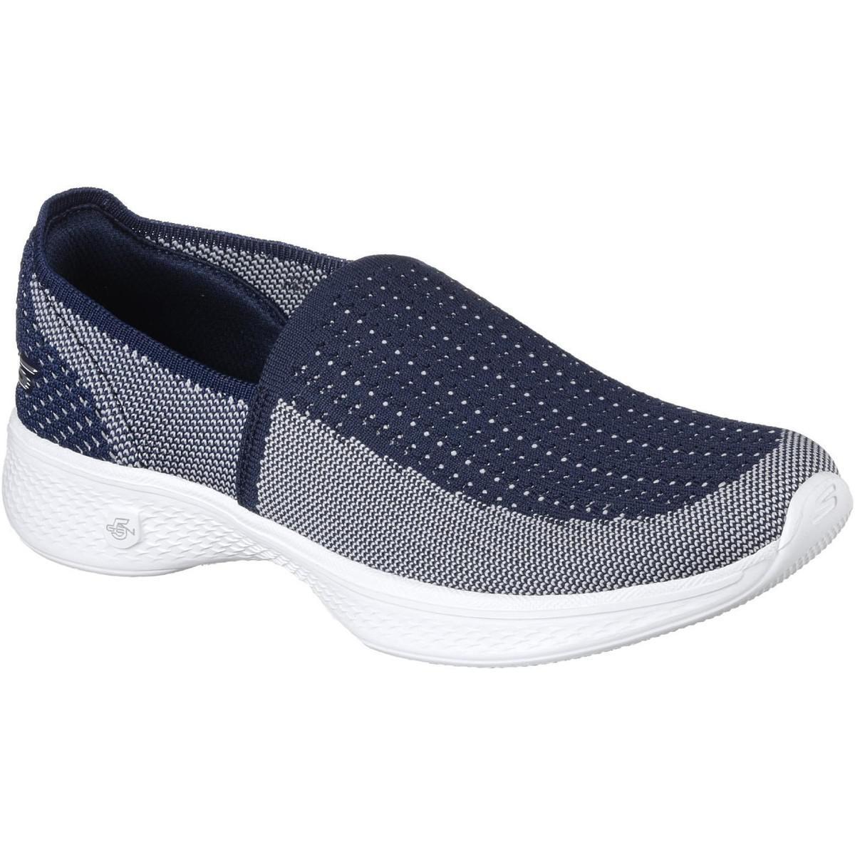 449a40066efb Skechers Go Walk 4 Ravish Women s Slip-ons (shoes) In Blue in Blue ...