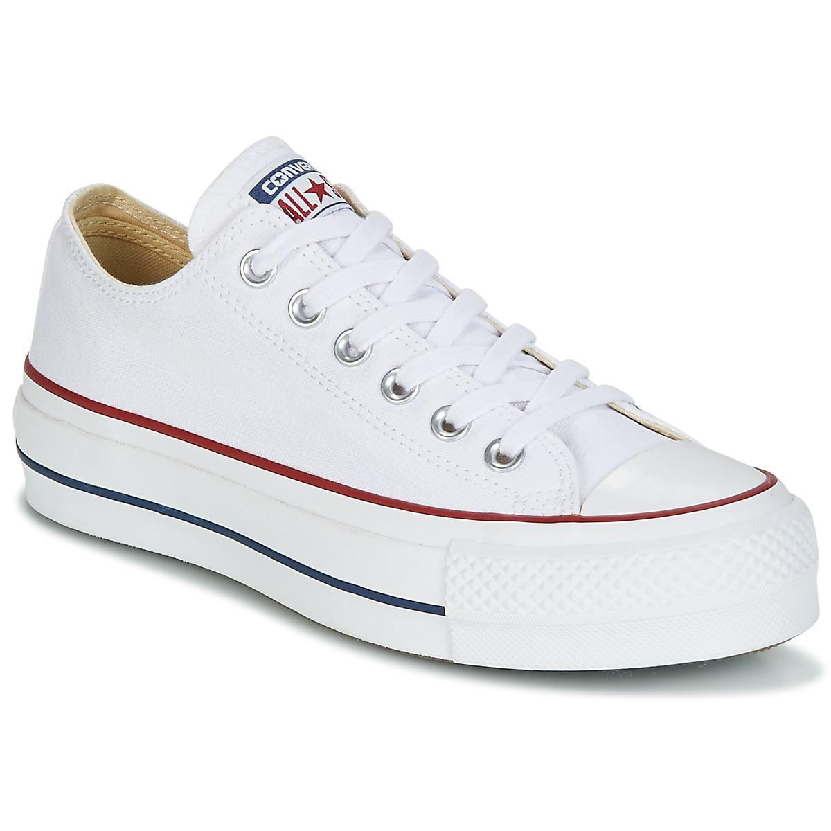 de5c436b0c9 Converse. Chuck Taylor All Star Lift Clean Ox Core Canvas Women s Shoes  (trainers) In White