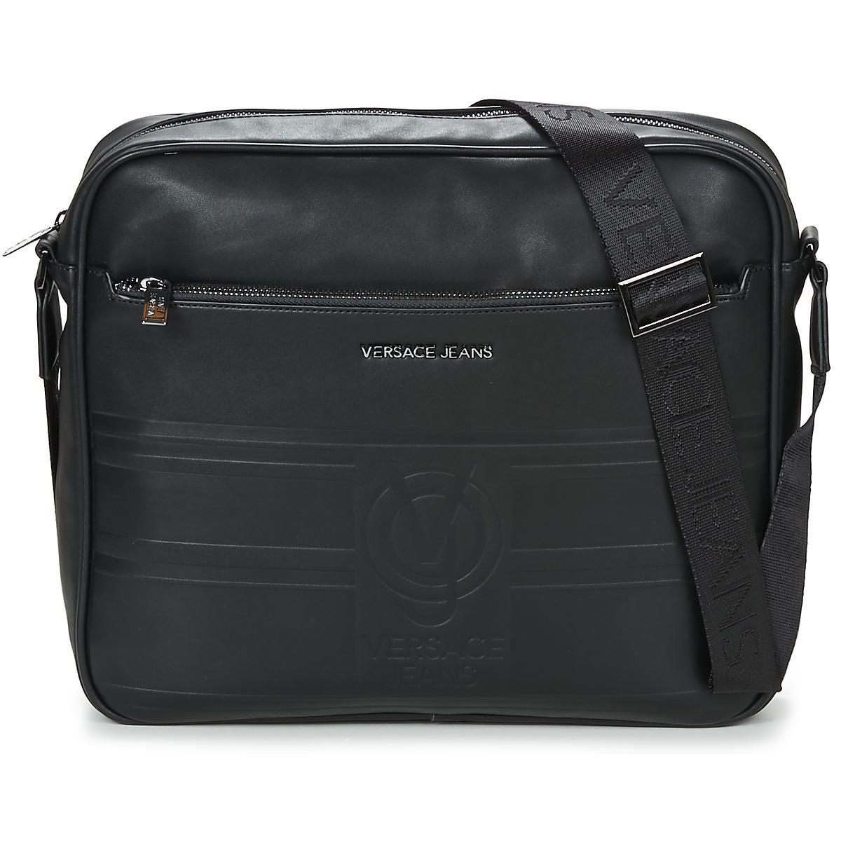 da811a2517 Versace Jeans Eloue Men s Messenger Bag In Black in Black for Men - Lyst