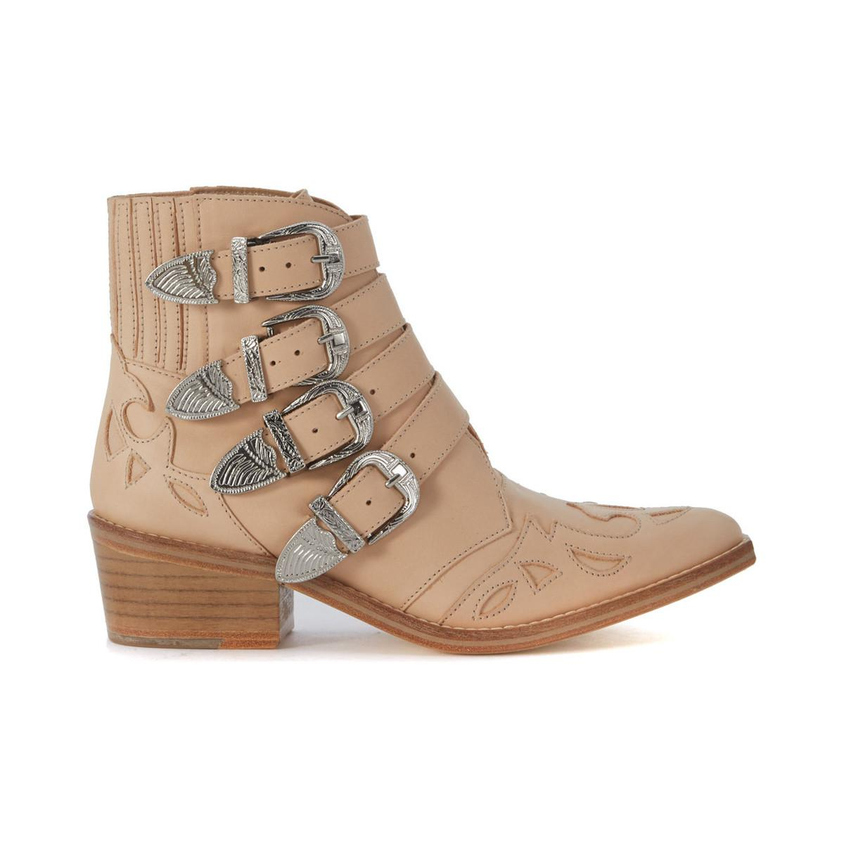Original TOGA PULLA Texan suede women's Low Boots in Sale Low Price Fee Shipping Discount Fashionable Largest Supplier For Cheap Sale Online v9SyCawS4H