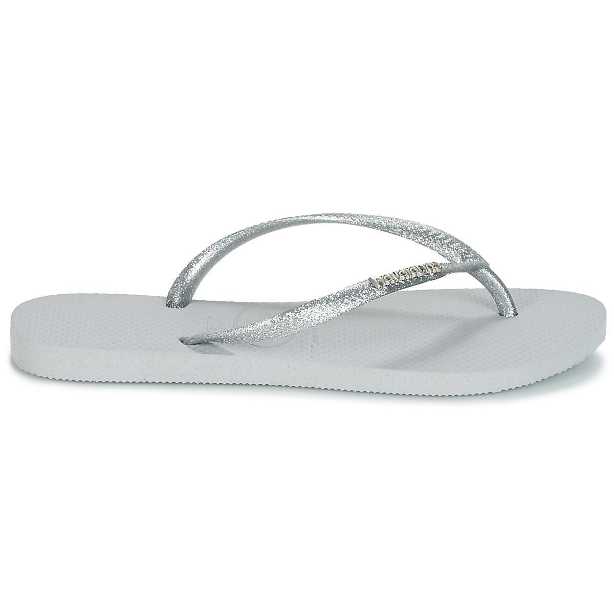 1f0f90f0b5f9b4 Havaianas Slim Logo Metallic Flip Flops   Sandals (shoes) in Gray ...