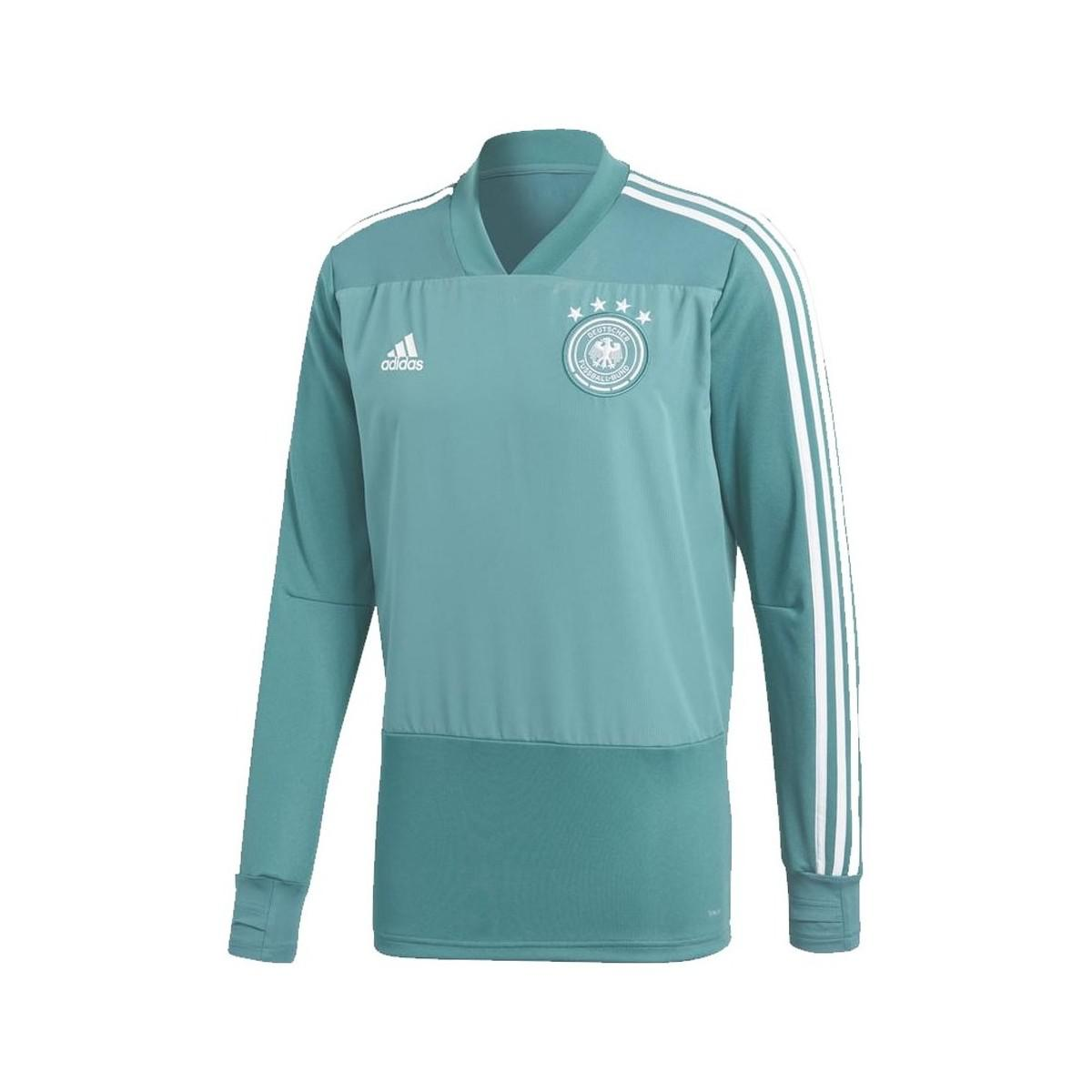 91f8a2855 adidas 2018-2019 Germany Training Top Men s In Green in Green for ...