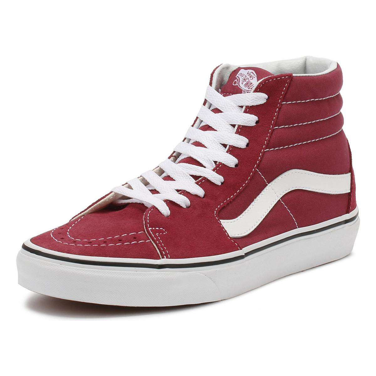 761cc11d8bf Vans - Dry Rose Red   True White Sk8-hi Trainers Women s Shoes (high. View  fullscreen