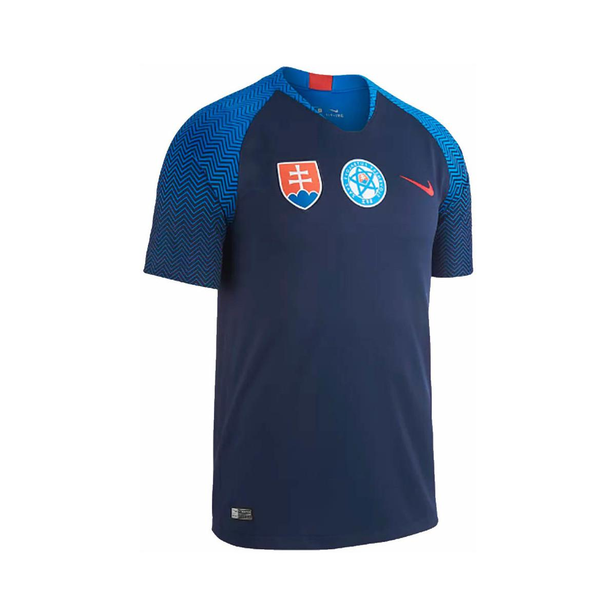 Nike 2018-2019 Slovakia Away Football Shirt Men s T Shirt In Blue in ... c636b8f4f85
