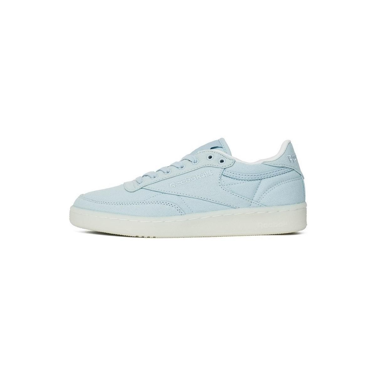 Reebok - Club C 85 Canvas Zee Blue Women s Shoes (trainers) In Multicolour  -. View fullscreen 8202dcd38