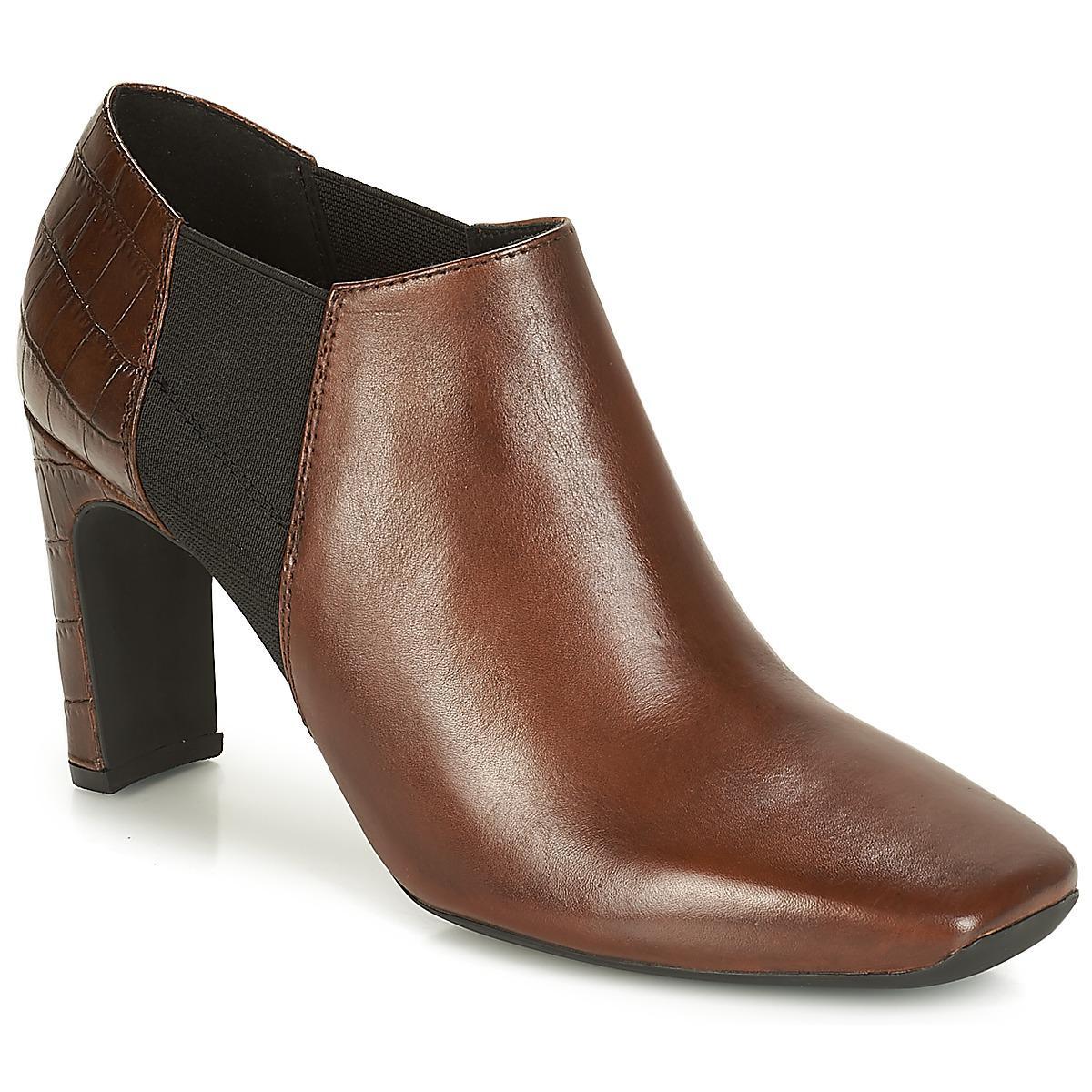 Geox D Vivyanne High Women s Low Boots In Brown in Brown - Lyst 0fede1b35ee4