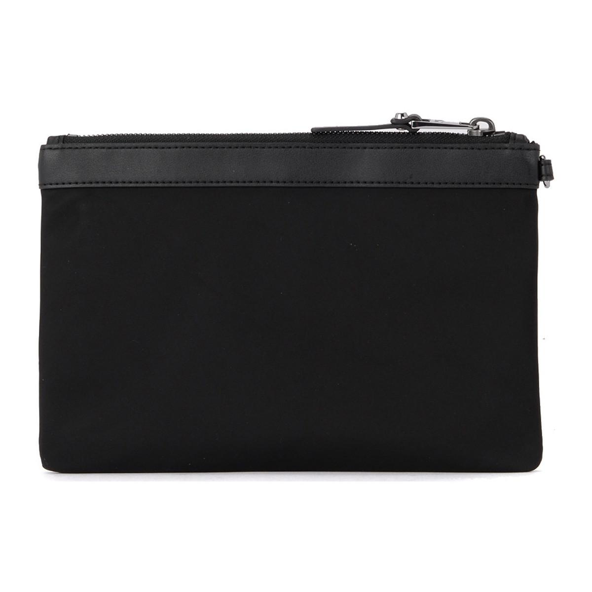 3e81bad20c91 MICHAEL Michael Kors - Lg Pouch Duo Black Nylon And Leather Double Pochette  Women's Pouch In. View fullscreen