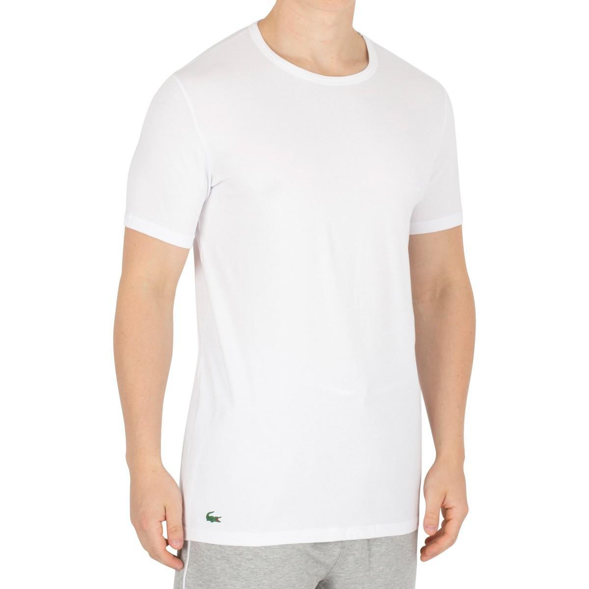 b572220080289 Homme Lot de 2 t-shirts, Blanc hommes T-shirt en blanc Lacoste pour ...