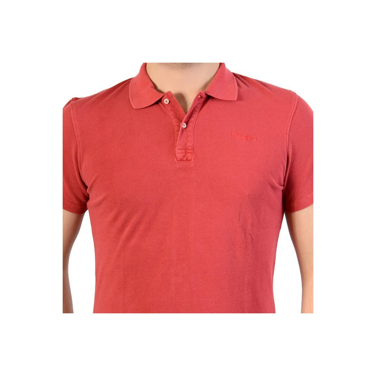 Pepe Jeans Polo Shirt Ernest New Pm540683 Cardinal Red 237 Mens