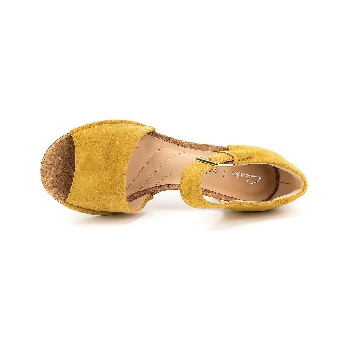 2e8445ac36ae Clarks Spiced Olivia Women s Sandals In Yellow in Yellow - Lyst