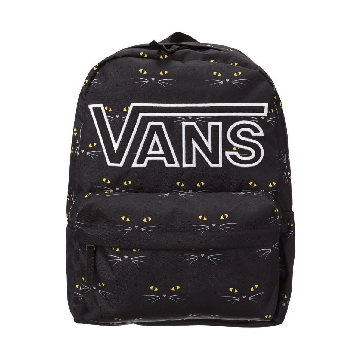 f2e66d8c81079 Vans Realm Flying V Ba Black Cat Women s Backpack In Black in Black ...