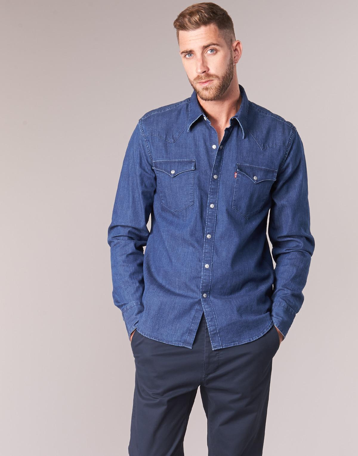 8ea71939efd Levi's Levis Barstow Western Men's Long Sleeved Shirt In Blue in Blue for  Men - Lyst