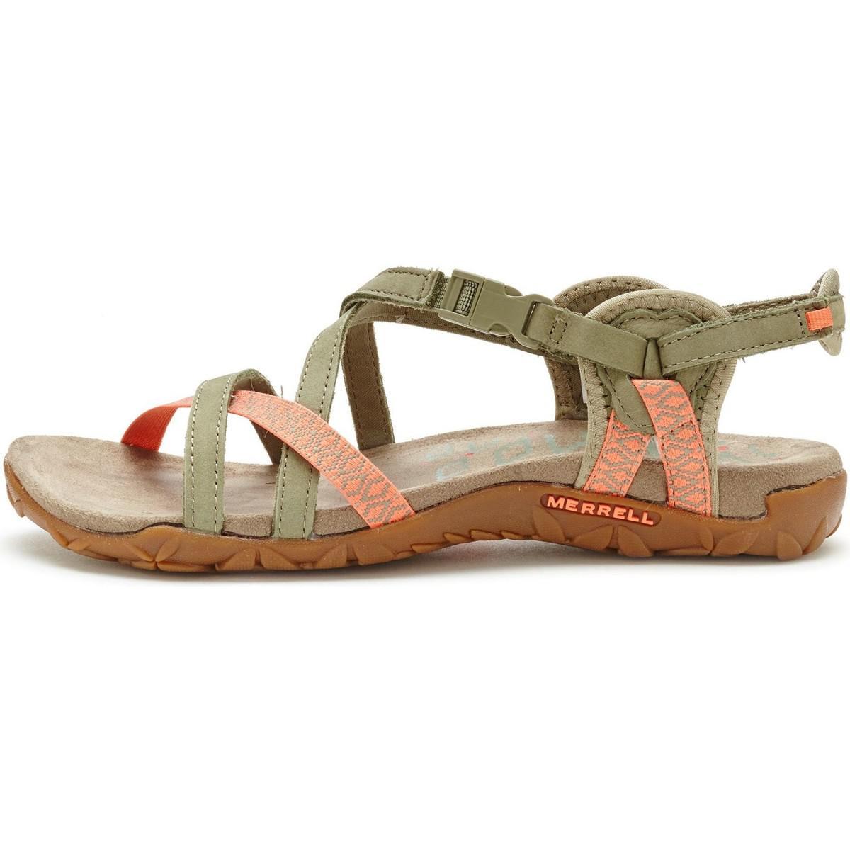 b87bd0760ae Merrell Terran Lattice Ii Women Sandals In Putty Green Coral J55312 ...