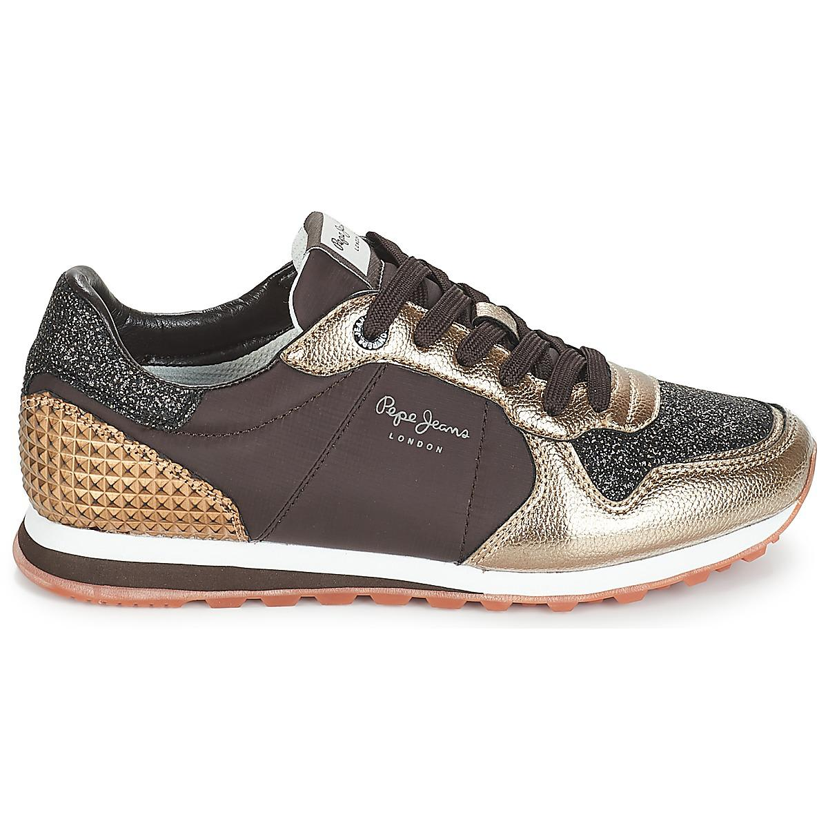 34270c041 pepe-jeans-brown-Verona-Womens-Shoes-trainers-In-Brown.jpeg
