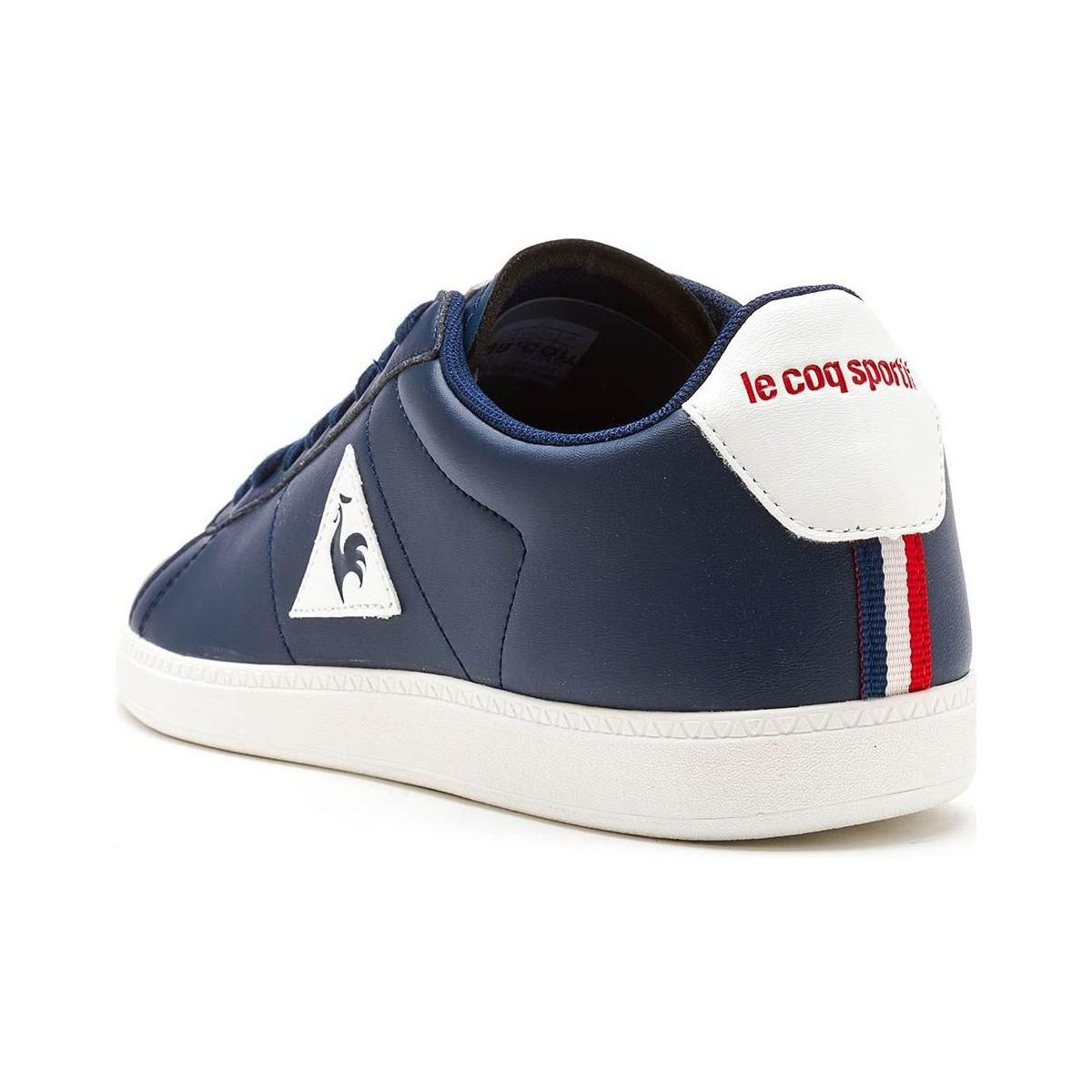 a6f93767b33e Le Coq Sportif Courtset S Lea Trainers In Dress Blue Vintage Red ...