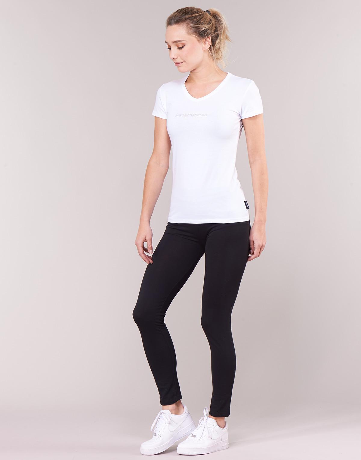 fa5a17146748 Emporio Armani - Cc317-163321-00010 Women's T Shirt In White - Lyst. View  fullscreen