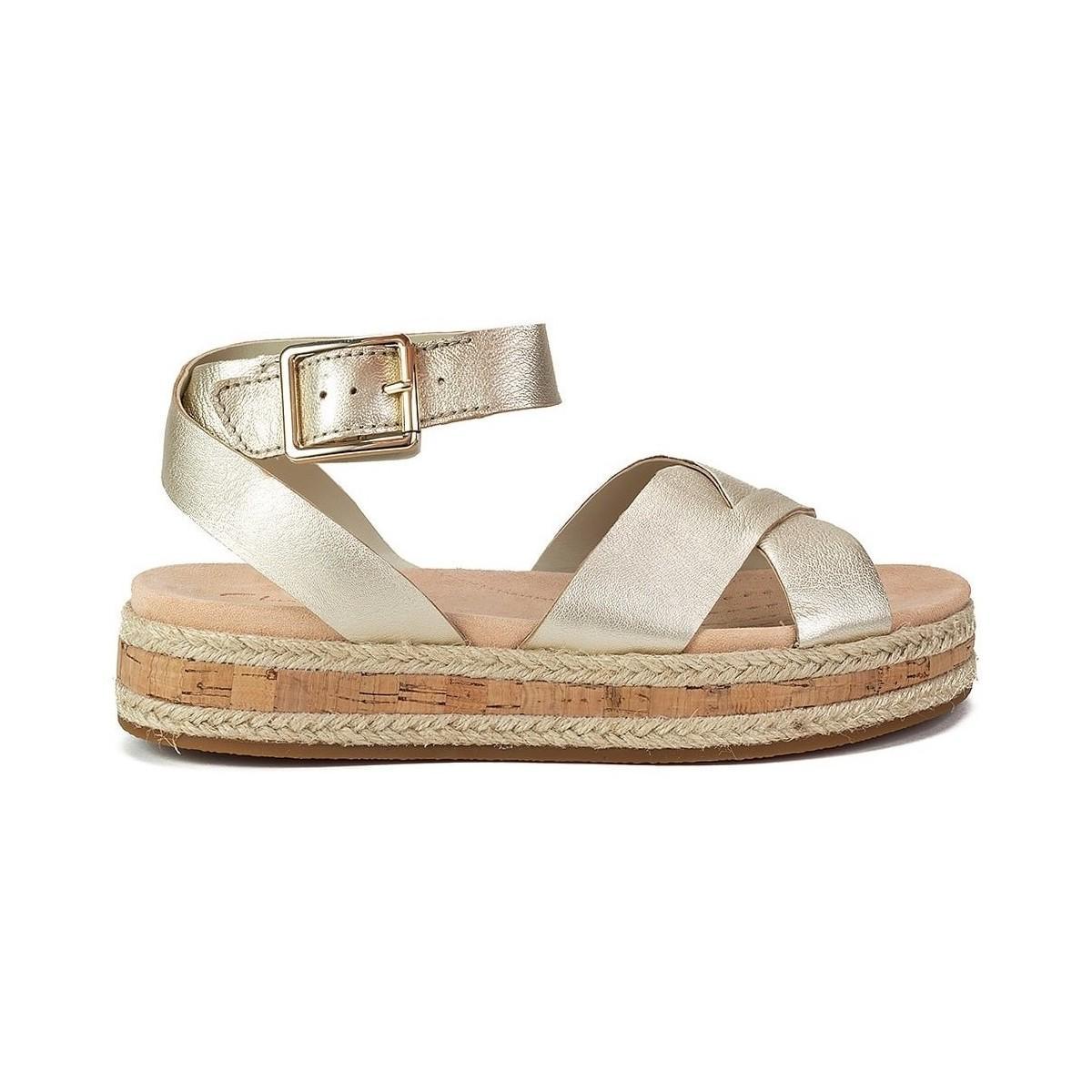6dfba1fe3c64 Clarks Botanic Poppy Women s Sandals In Gold in Metallic - Lyst