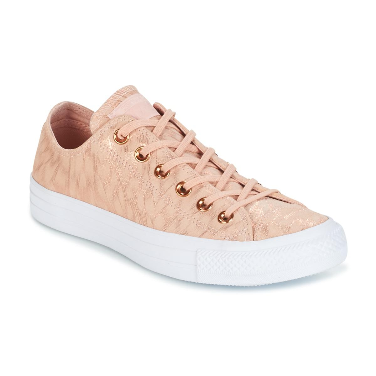 49aa256ee0bd Converse. Chuck Taylor All Star Shimmer Suede Ox Dusk Pink dusk Pink white  Women s Shoes (trainers) ...