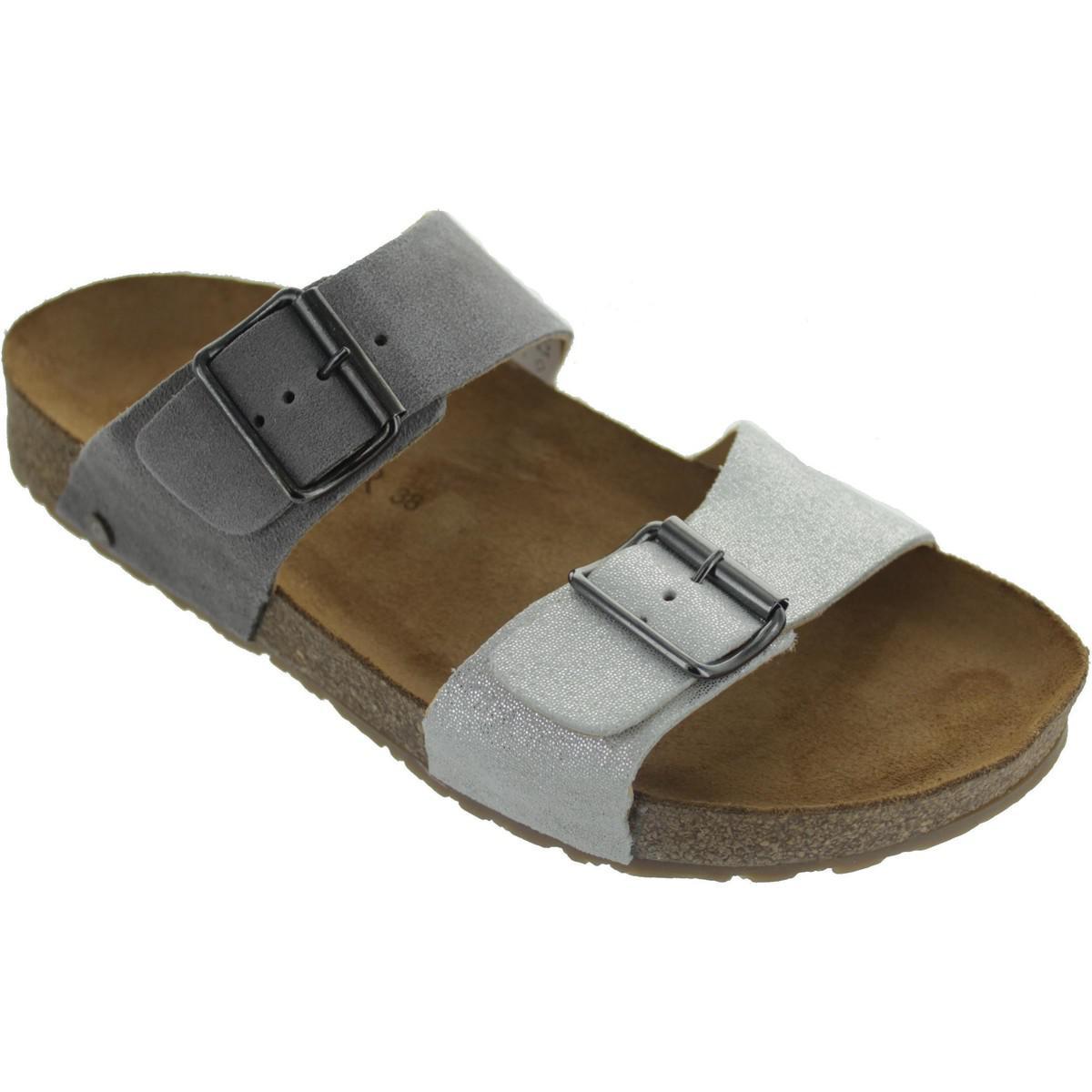 ec5f3923c909e Haflinger Bio Andrea Women s Sandals In Silver in Metallic - Lyst