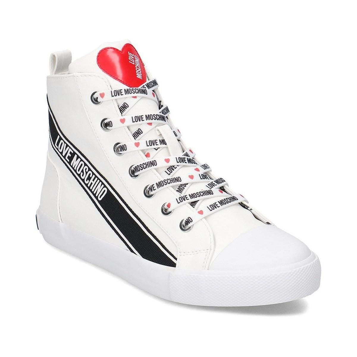 05c238dd821f Love Moschino - Summer Sneaker Women s Shoes (high-top Trainers) In White  -. View fullscreen