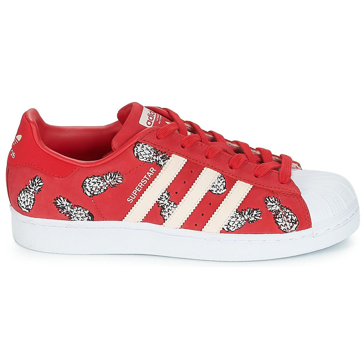 Lyst Women's trainers Adidas Red Superstar Shoes W In qwCCOB0x