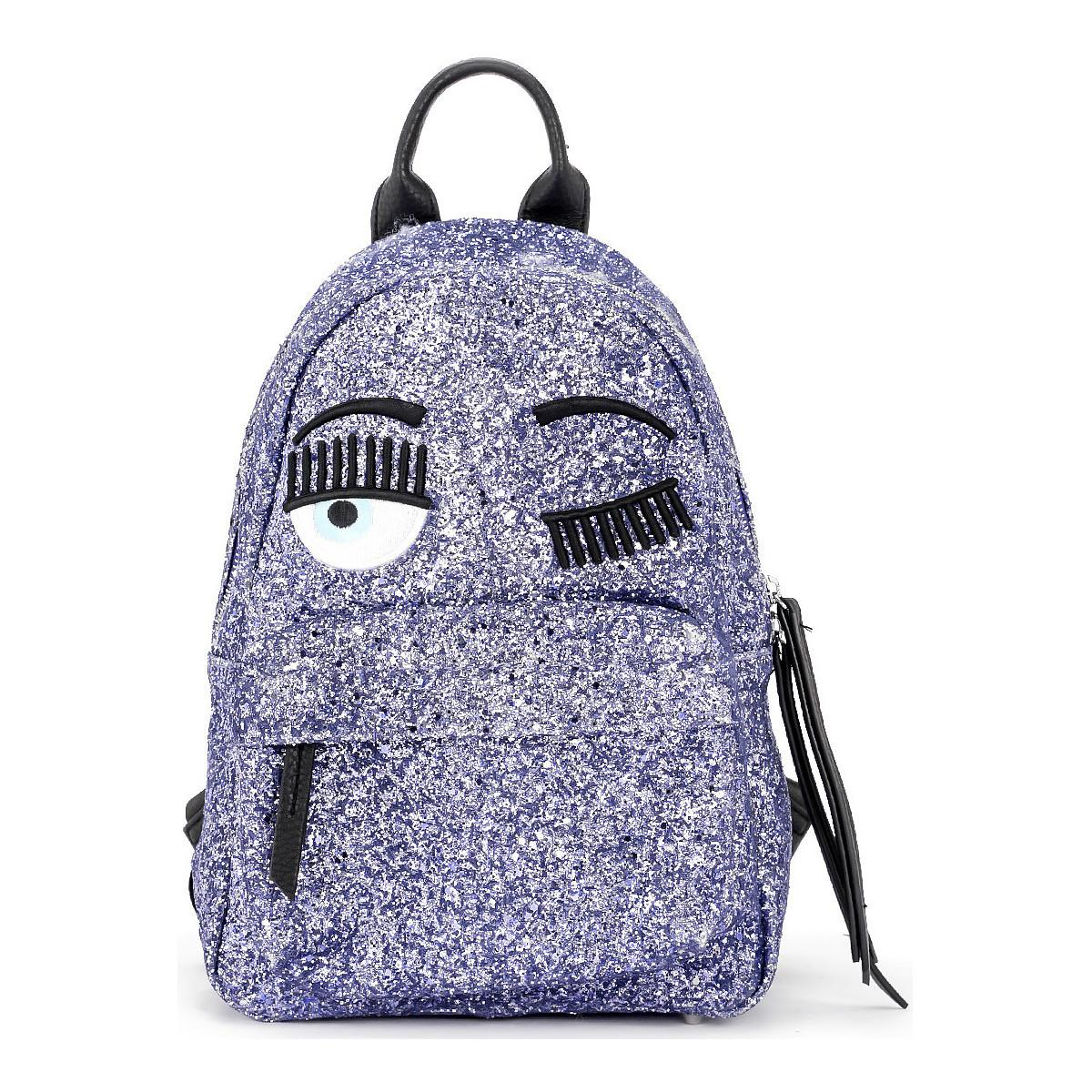 6a54056e16 Chiara Ferragni Zaino Flirting In Glitter Viola Women s Backpack In ...