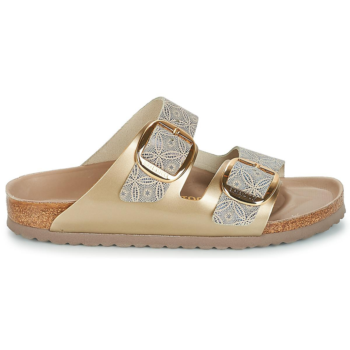 8c3422ae3bf5 Birkenstock - Metallic Arizona Big Buckle Women s Mules   Casual Shoes In  Gold - Lyst. View fullscreen