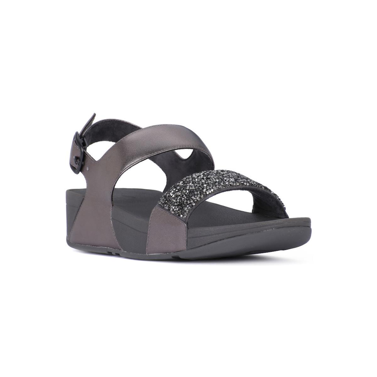 010b4c075f9 Fitflop Fit Flop Sparklie Crystal Women s Sandals In Grey in Gray - Lyst