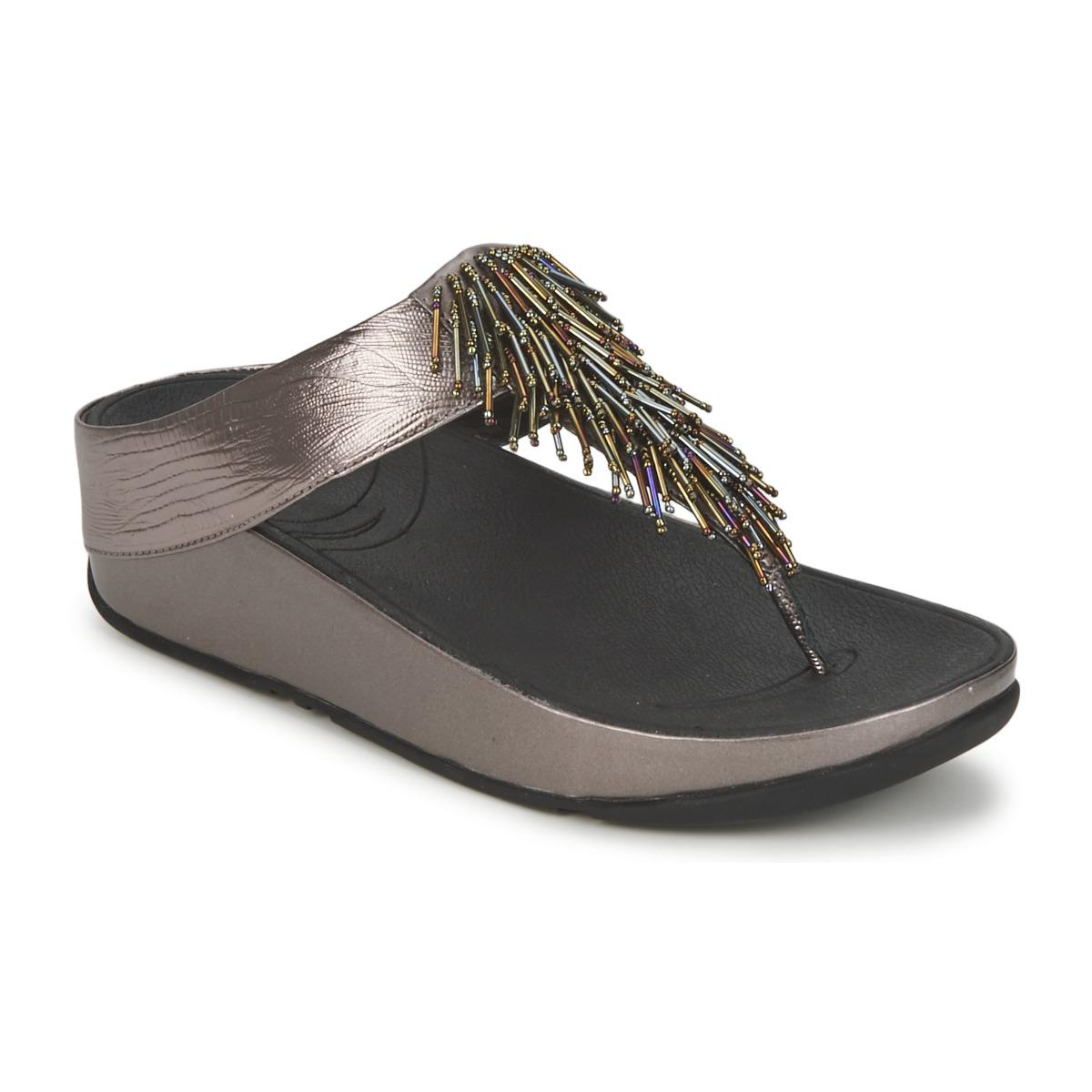 ac8b70ac9792 Fitflop Cha Chatm Women s Flip Flops   Sandals (shoes) In Silver in ...
