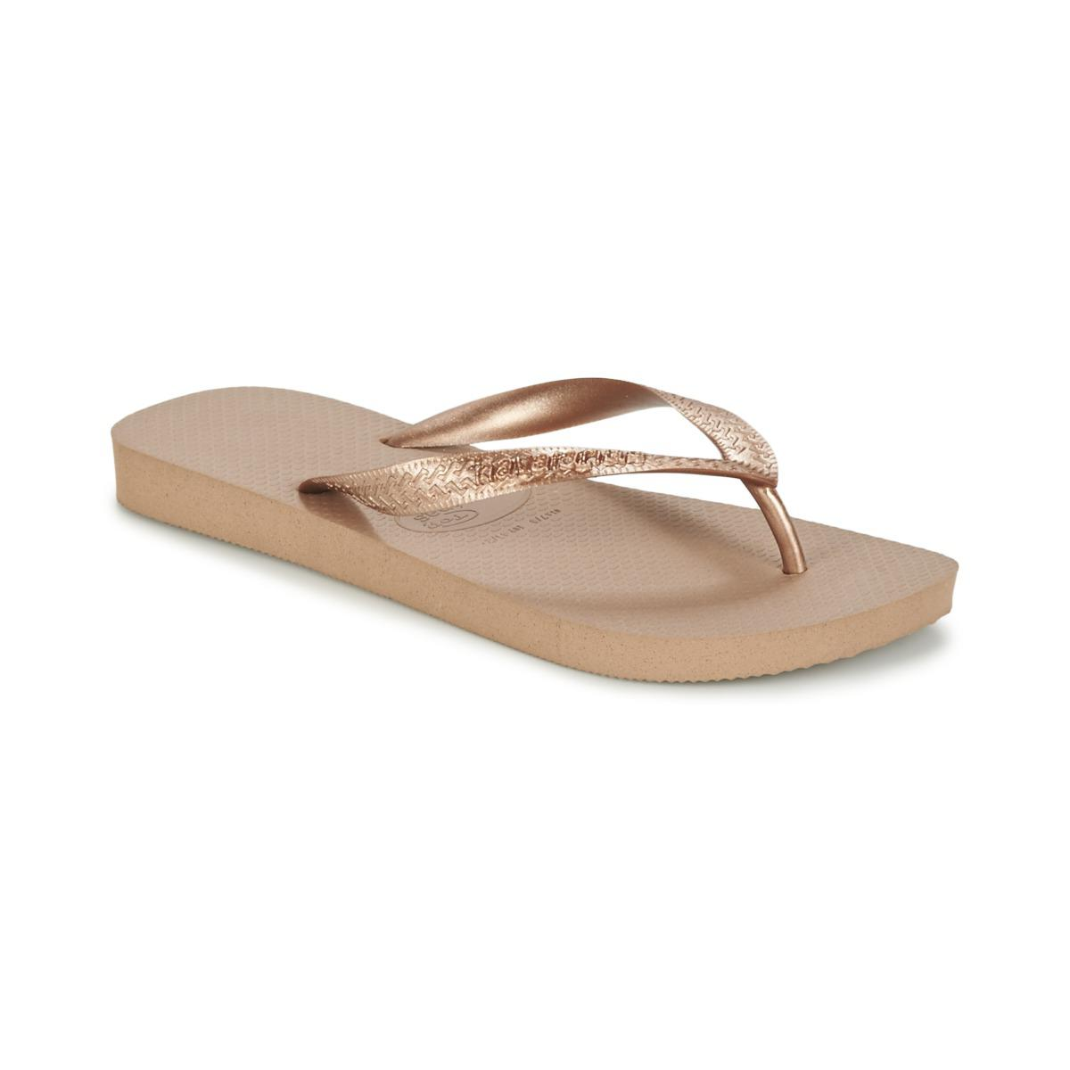 ad9cb6cb921dac Havaianas Top Metallic Women s Flip Flops   Sandals (shoes) In Gold ...