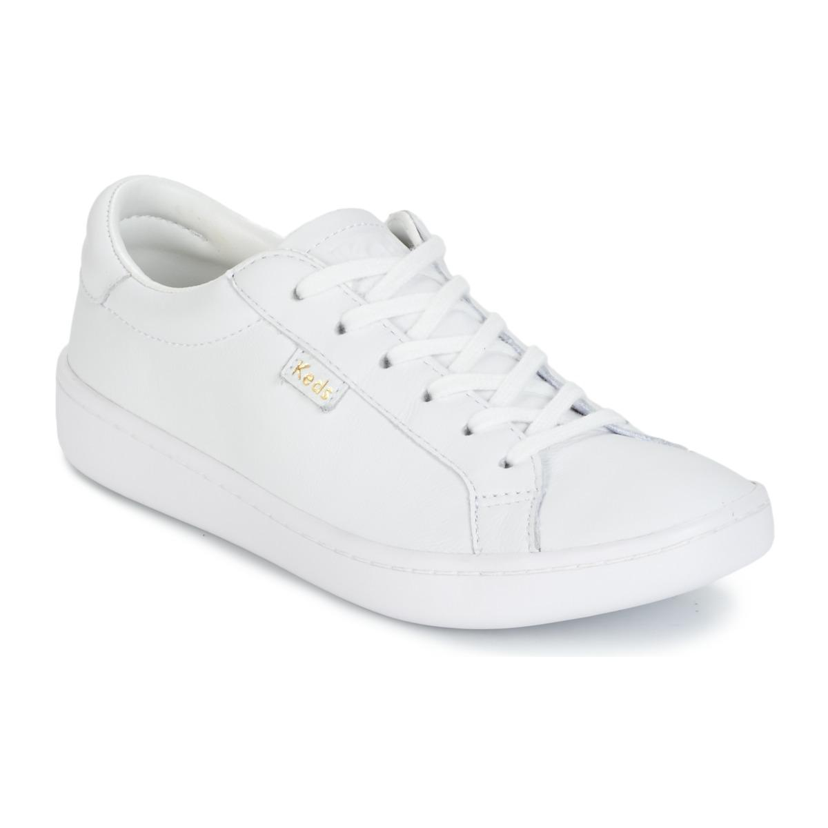 d5373cf77cb Keds Ace Core Leather Women s Shoes (trainers) In White in White - Lyst