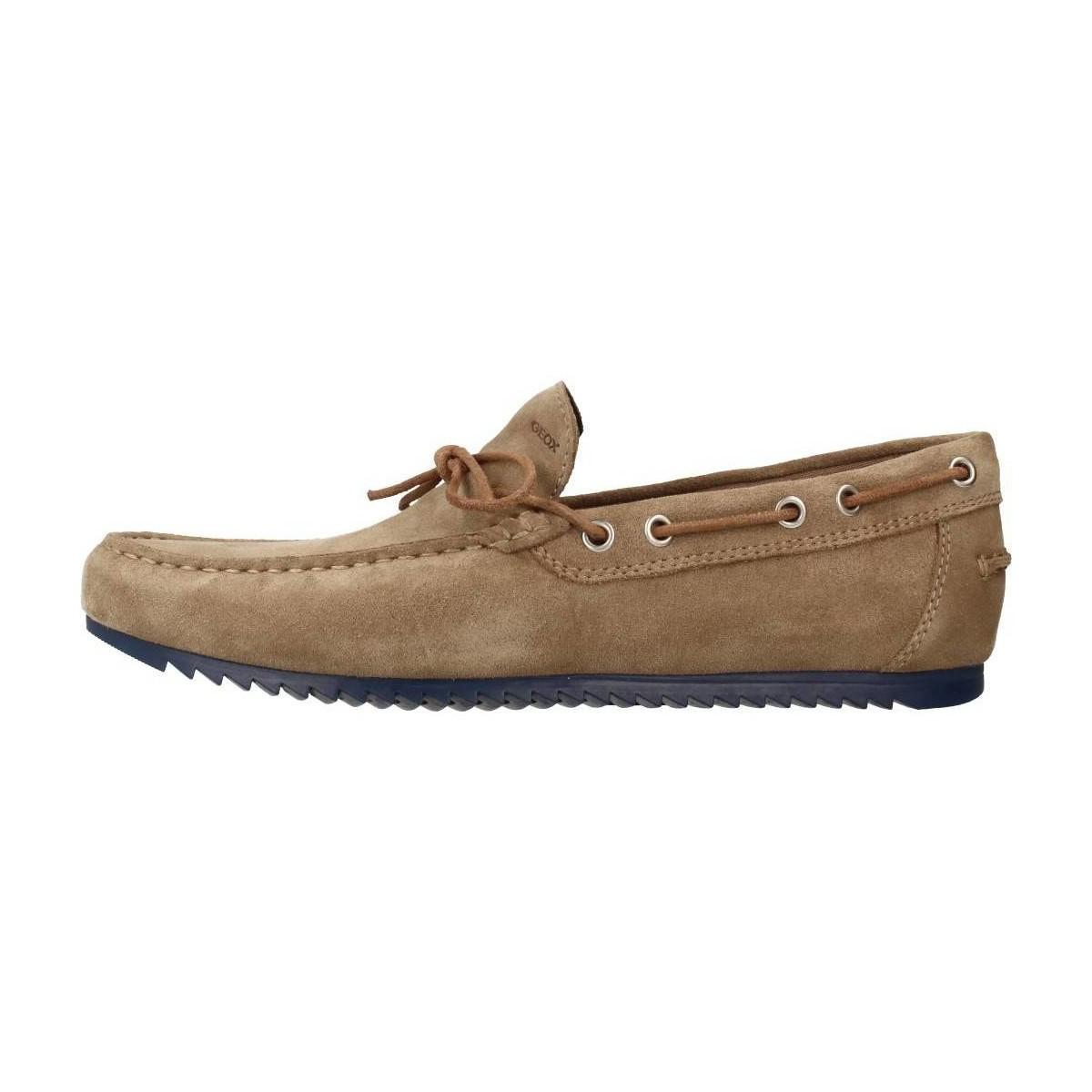 Geox U Shark Mens Loafers Casual Shoes In Brown For Men D Island Slip On England Suede Gallery