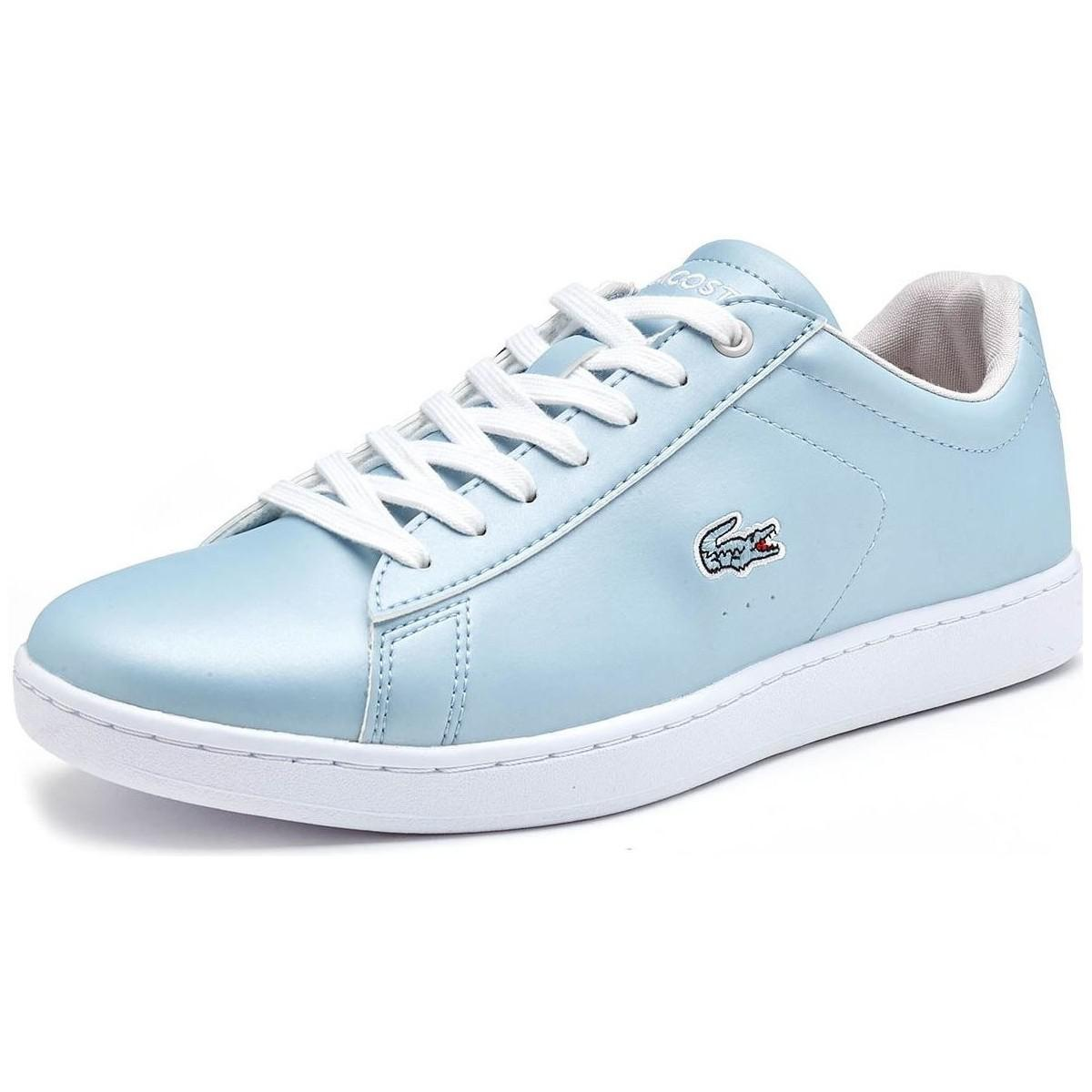 Lacoste. Carnaby Evo 317 4 Spw Trainers In Light Blue 734spw0010 1f2 Men\u0027s  ...